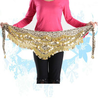 New Style Coins Belly Dance Waist Chain Hip Scarf Bellydance Belt Cooleye Skirt Scarf Wrap Costume