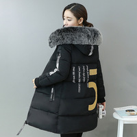 Faux Fur Hood Parka Winter Jacket Women Thick Warm Cotton Coat Female Long Casaco Manteau Femme