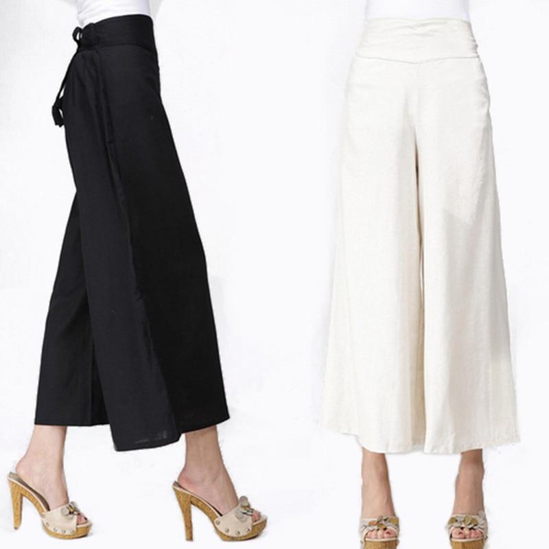 Aliexpress.com : Buy White Linen Pants Summer Women Long Wide ...