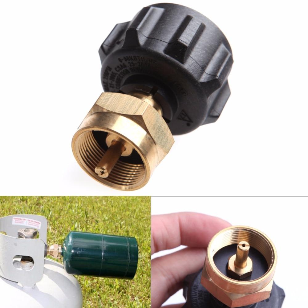 BBQ KIT 1LB Tank Gas Propane QCC1 Regulator Valve Propane Refill Adapter Outdoor