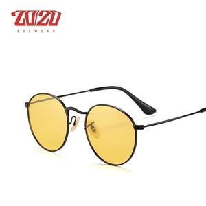 Image 2 - 20/20 Brand New Unisex Occhiali Da Sole Da Uomo Lenti Polarizzate Vintage Rotondo di Metallo Accessori di Eyewear Occhiali Da Sole per Le Donne 17018 1
