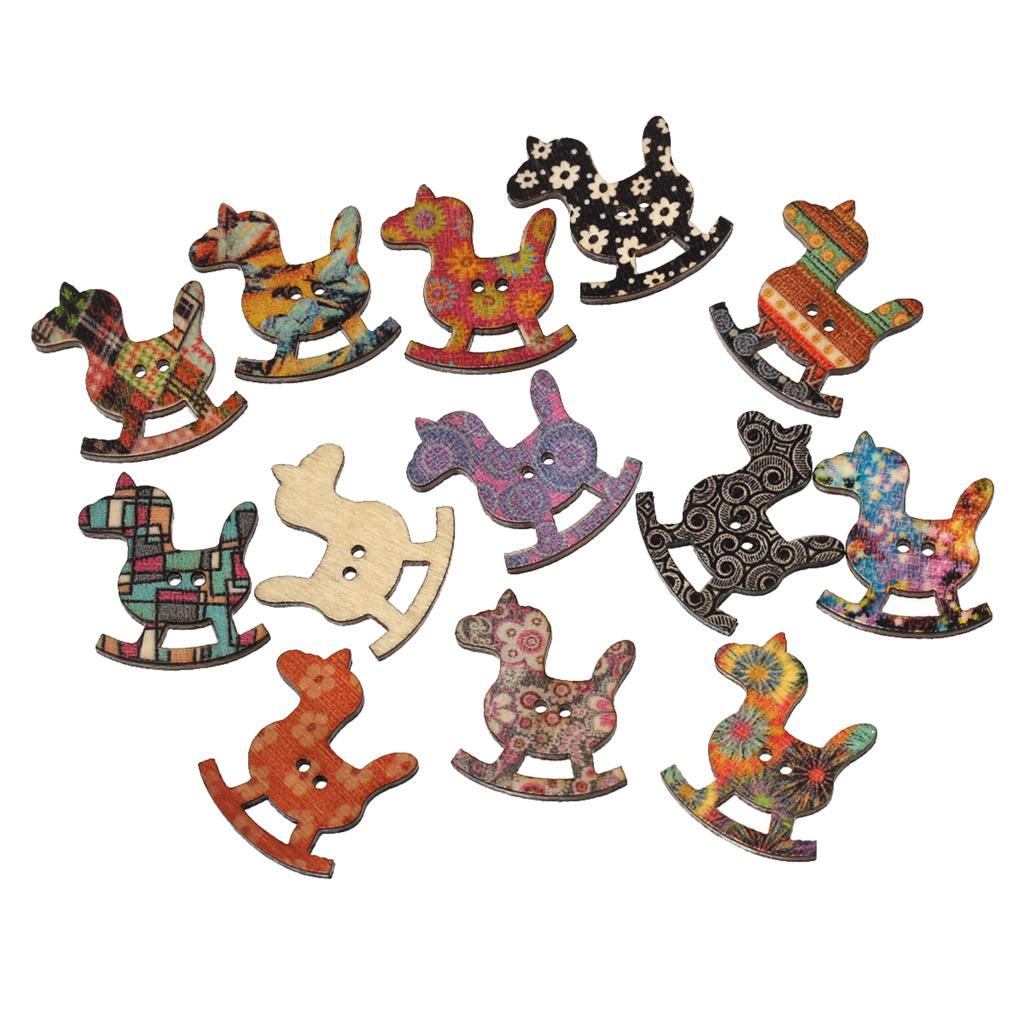 Wooden horse swing free patterns - Doreenbeads Wood Sewing Button Scrapbooking Rocking Horse At Random Two Holes Pattern 3cm 1 1