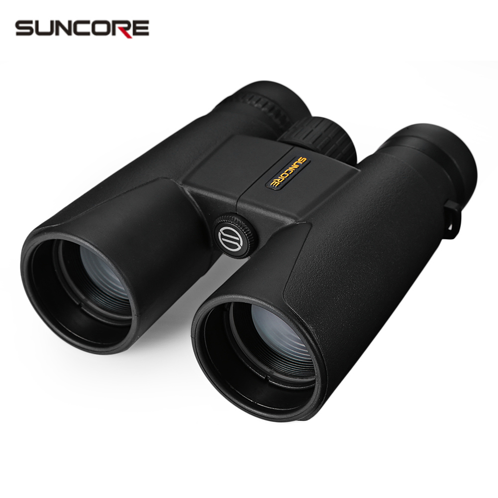 SUNCORE 12X42 94M / 1000M HD Vision Wide-angle Prism Binocular Outdoor Folding Telescope free shipping suncore traveler 8x35 night vision binocular telescope fmc model