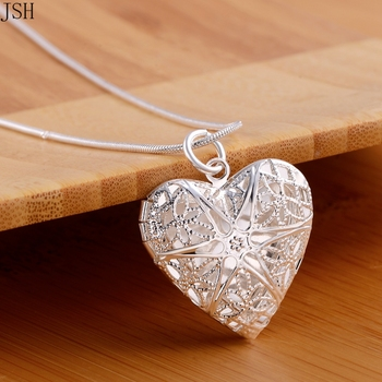 Wholesale Free shipping elegant fashion wedding silver color jewelry charm women noble heart pendant necklace ,P185