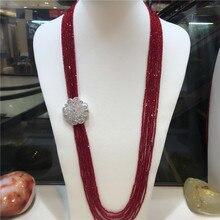 Женская мода циркониевые аксессуары застежка DIY аксессуар красное ожерелье со стеклянными кристаллами Добро пожаловать на заказ цвета модные ювелирные изделия