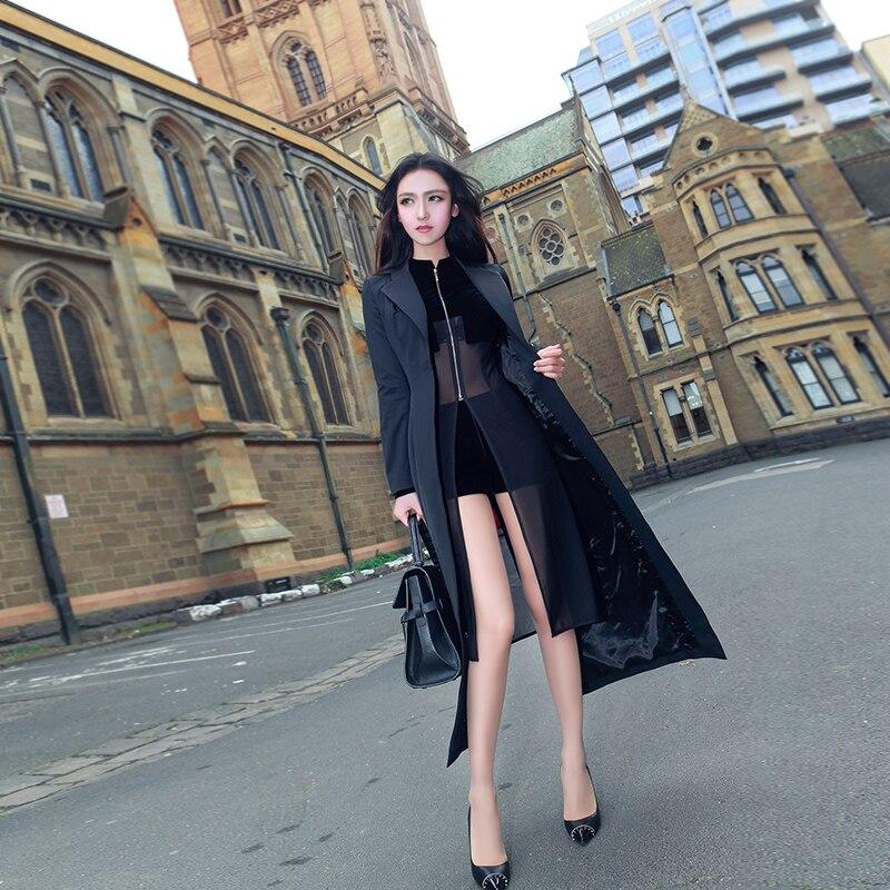 2018 Pièces Perspective Automne Maille cou Noir Nouveau Sexy Pantalon Shorts Ensemble Deux Couture À Costume Long O Couleur Plein Jupe Coloré Chemises f6rRfCwqx