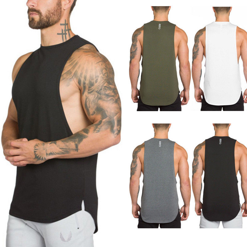 UK STOCK Men's New Gym   Tank     Tops   Camouflage Sports Fitness Vest Clothing Shirt