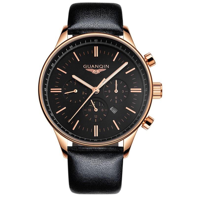 GUANQIN GQ12003 Original Watches Men Luxury Top Brand New Fashion Mens Big Dial Designer Wristwatch masculino reloje