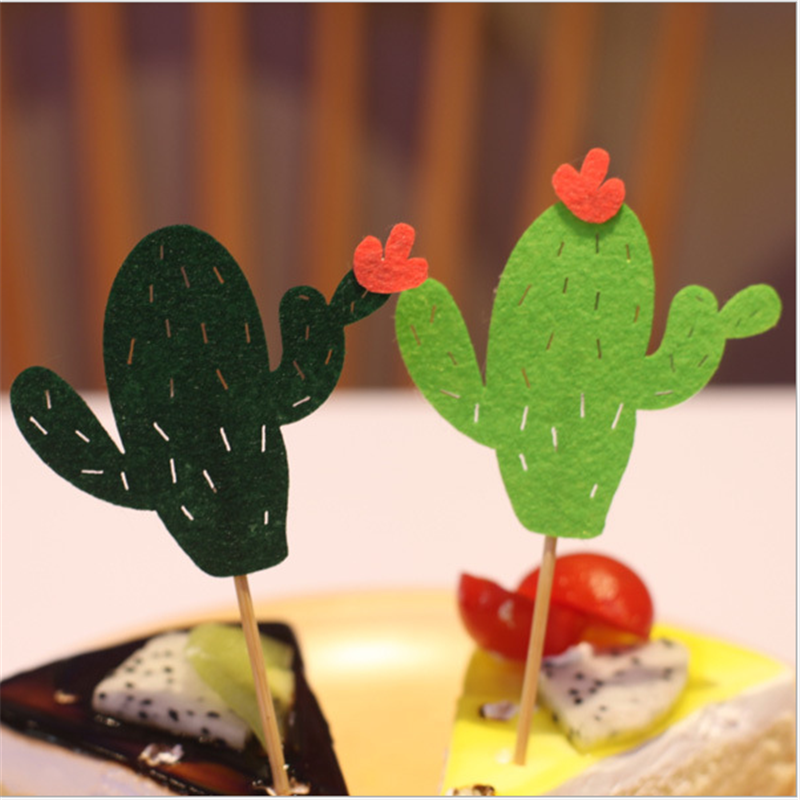 6Pcs lot cactus cake insert party decoration birthday party decorations kids happy birthday baby shower bachelorette party DIY in Party DIY Decorations from Home Garden