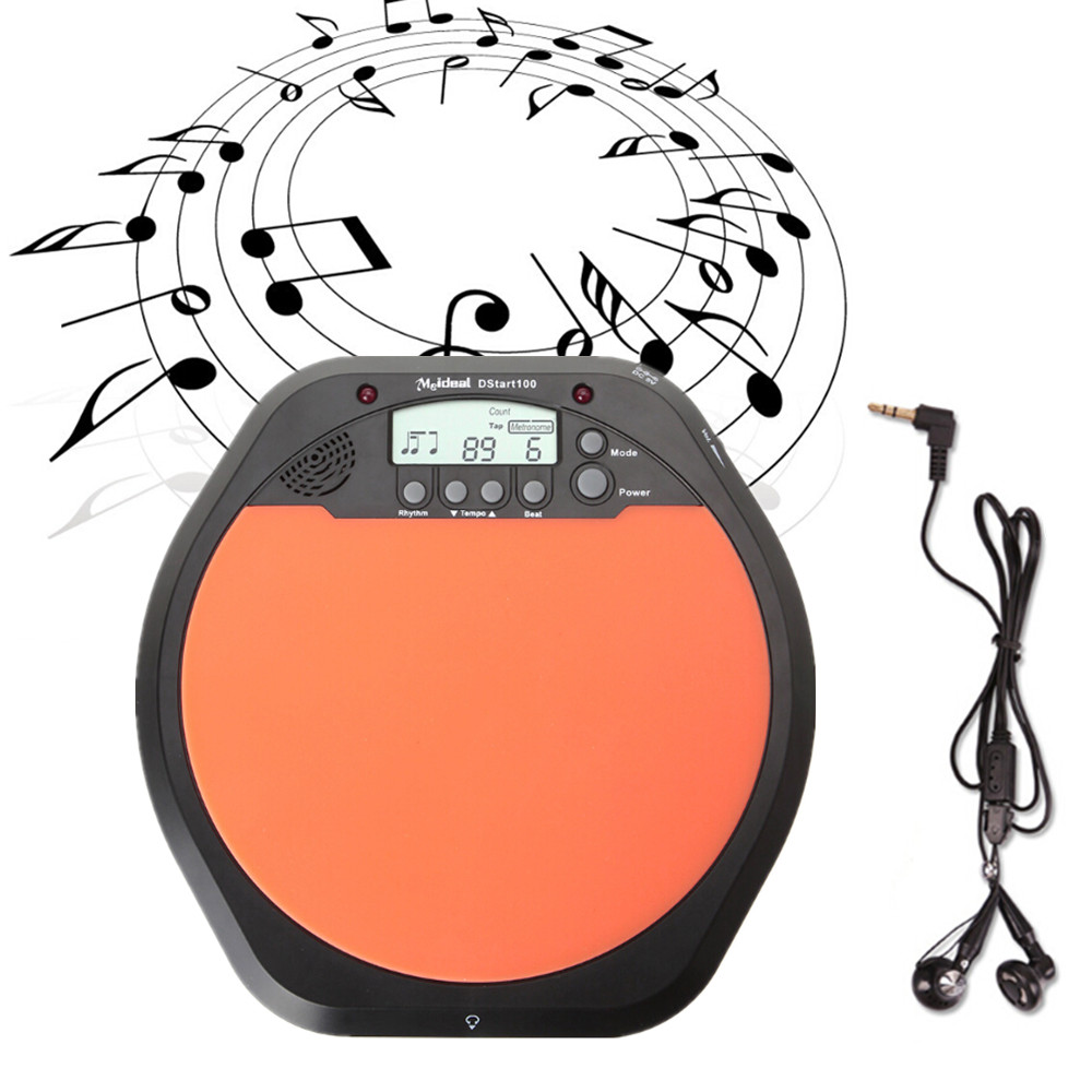 Digital  Electric Electronic Drum Pad for Training Practice MetronomeDigital  Electric Electronic Drum Pad for Training Practice Metronome