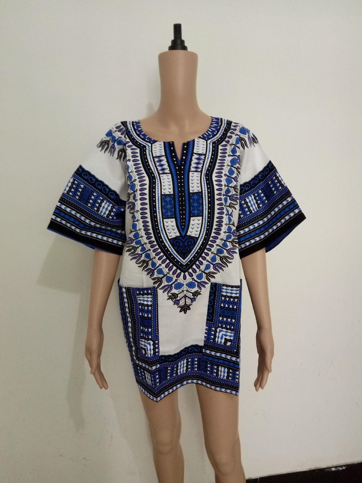 Vetement femme afrikanske vestido listrado modeller tenkte africaine - Nasjonale klær - Bilde 2