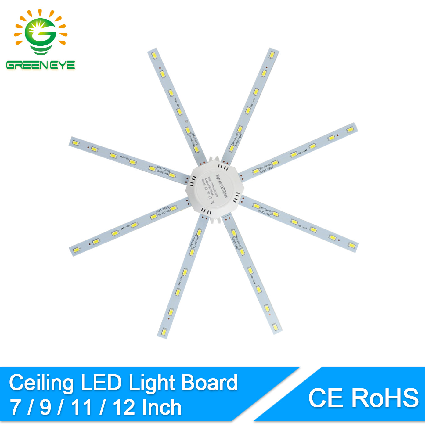 GreenEye Ceiling Lamp Replacement Led Light Board 220V 12W 16W 20W 24W Downlight Cold white Accessory Magnetic Plate Ring Panel-in LED Bulbs & Tubes from Lights & Lighting