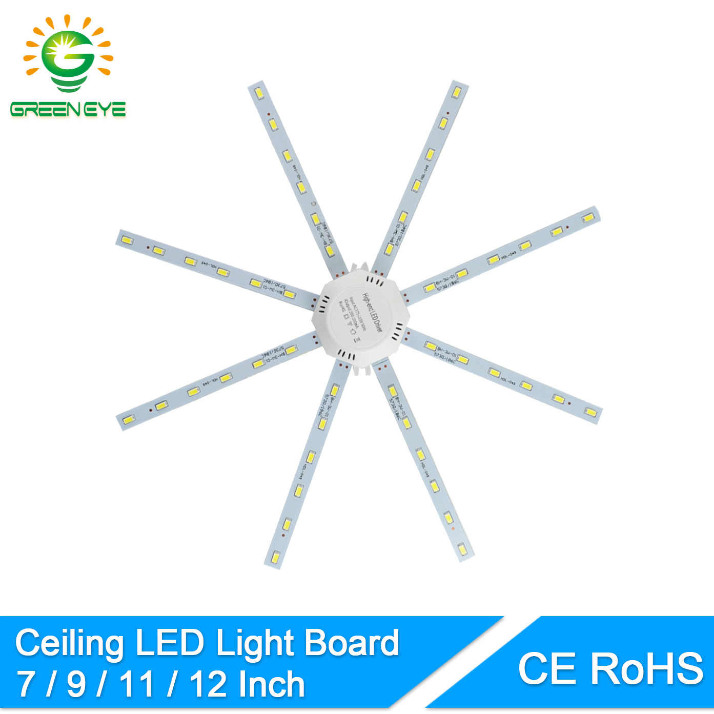 GreenEye Ceiling Lamp Replacement Led Light Board 220V 12W 16W 20W 24W Downlight Cold white Accessory Magnetic Plate Ring Panel