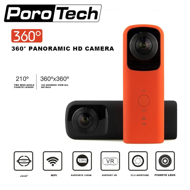 HB720 Portative à Double lentille Panoramique Caméra De Sport En Plein Air VR HD 4 k Caméra WIFI Intégré AP Contact Téléphone