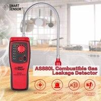 Умный датчик AS8800L детектор горючих газов легковоспламеняющийся природный газ тестер для проверки герметичности инструмент метан детектор ...