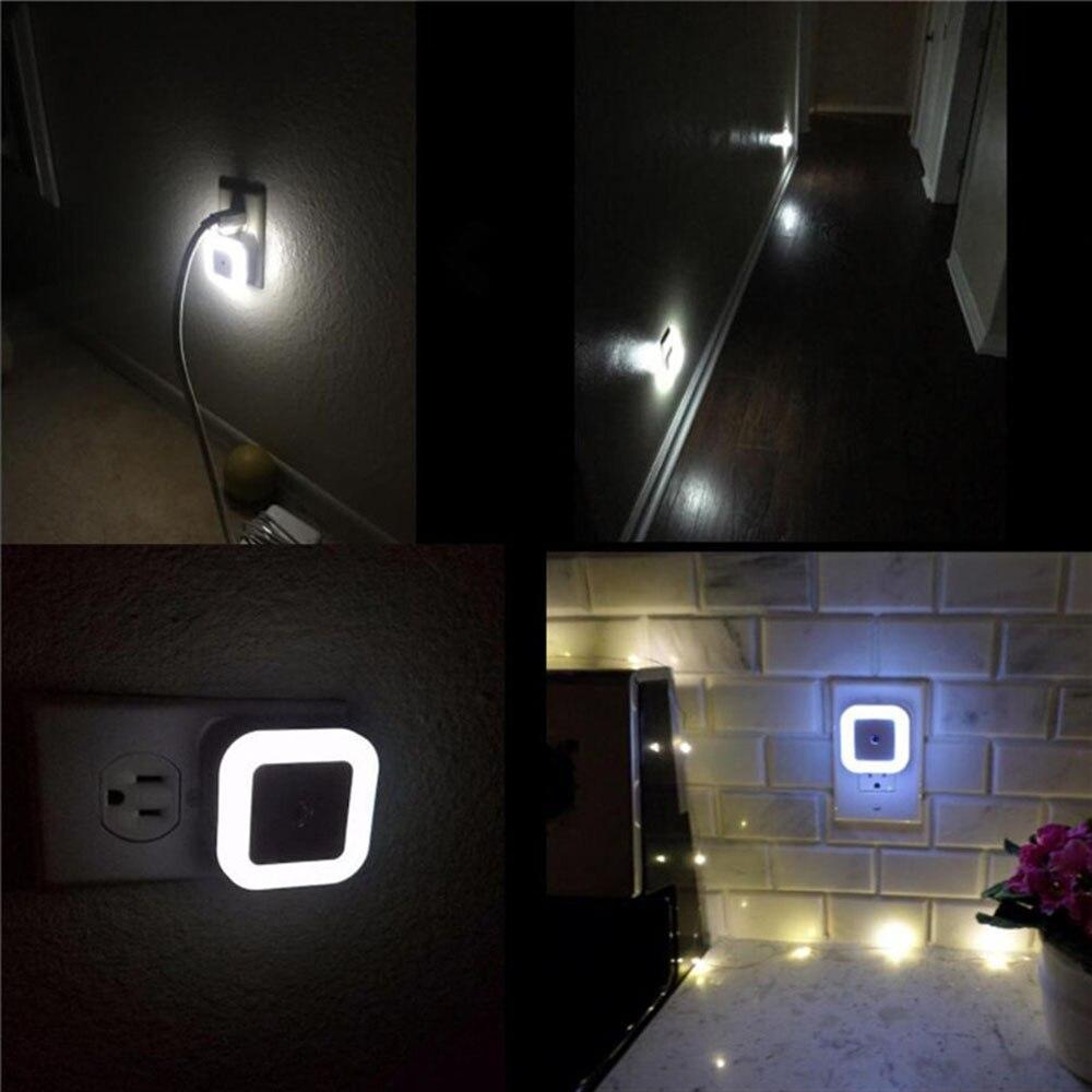 EU/US Plug Smart Sensor LED Night Light Lamp Induction Sensor Control LED Light 0.5W Automatic Light Lamp 1Pcs