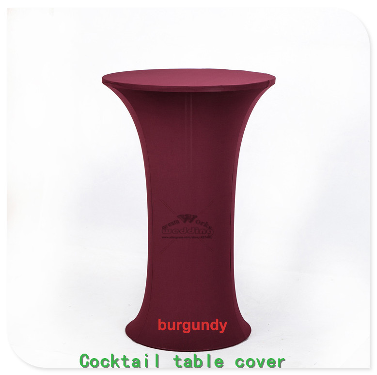 New 2430 36 Lycra Stretch Cocktail Poseur Dry Bar Spandex Table Cover Wedding Party Event Decorations Tablecover Tablecloth