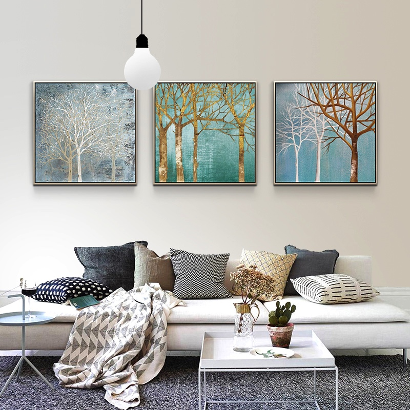 100% Hand Paitned Free Shipping trees Abstract Large size abstract Oil Canvas