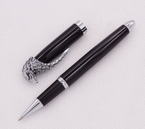 Image 5 - Fuliwen Owl Rollerball Pen Eagle Head Clip with Smooth Refill , Unique Style Vivid Black Collection Gift Pen for Office Business