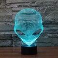 Красочная 3D Внеземной USB LED Night Light Сенсорный Выключатель Ночник Домашнего Декора Творческая Атмосфера Спальня Настольная Лампа