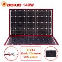 Dokio 100 W 140 W 18 V 12 V พลังงานแสงอาทิตย์แผงควบคุม 140 วัตต์แผงพลังงานแสงอาทิตย์/ camping