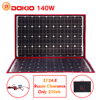 Dokio 100 W 140 W 18 V 12 V Esnek Katlanabilir güneş panelleri Denetleyici 140 Watt Panelleri Güneş Araba/Kamp sadece Gemi Rusya