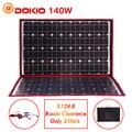 Dokio 100 W 140 W 18 V 12 V Flexible plegable paneles solares controlador 140 vatios paneles Solar coche/ camping solo barco de Rusia