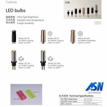 Good Quality 5pcs NSK fiber optic coupling bulb handpiece coupling LED bulb STAR fiber optic handpiece coupling LED lamp