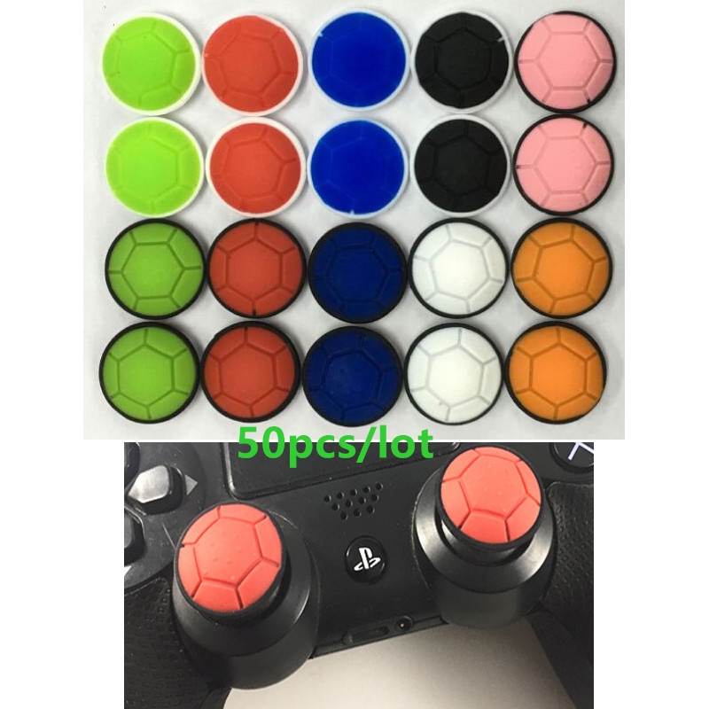 Newest 50pcs Anti-skid Turtle shell Silicone Thumb Stick Grip Caps Protector for PS4/ Xbox 360/ PS3 /Xbox one PS4 Pro PS4 Slim