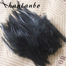 soft black natural rooster plumes 100pcs/lot  Height 6-8 (15-20cm) Rooster Feathers plumage dancer decoration the rooster struts page 8