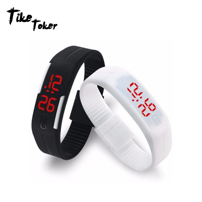 TIke Toker Digital Watch LED Watch Men Relogio Masculino Relogio Feminino Women Watches Sport Men Watch Clock Montre homme relogio pmw211