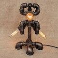 Современная черная мастерская  3 фонаря  настольная лампа для роботов  e27  арт-деко  светящаяся настольная лампа  бра для учебы  спальни  прикр...