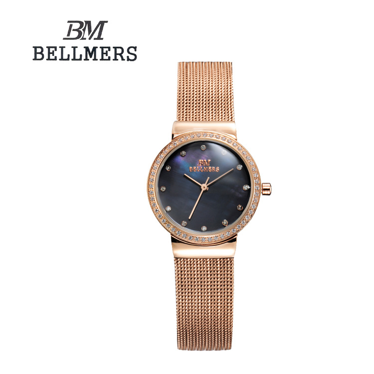New Brand BELLMERS Relogio Feminino Clock Women Watch Stainless Steel Watches Ladies Fashion Casual Watch Quartz Wristwatch капли в нос
