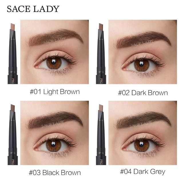 SACE LADY Eyebrow Pencil Makeup Professional Eye Brow Pen Make Up Tint Waterproof Eyebrow Paint Shade Natural Brand Cosmetics 2
