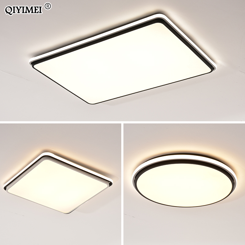 Image 5 - New Modern LED Ceiling Lamps For Living Room Remote Control Dimming For Dining Room Bedroom white and black lighting Lights-in Ceiling Lights from Lights & Lighting
