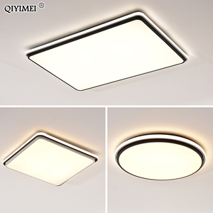 Image 5 - New Modern LED Ceiling Lamps For Living Room Remote Control Dimming For Dining Room Bedroom white and black lighting Lights