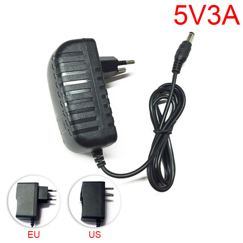 Cctv Accessories Gakaki Ac To Dc Power Adapter Supply Eu Plug 100v-240v Converter Adapter Dc 5v 3a 3000ma For Led Strip Lamp Cctv Camera Preventing Hairs From Graying And Helpful To Retain Complexion
