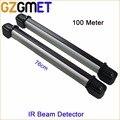 GZGMET 100 metro 4 de haz fotoeléctrico sensor de haz de infrarrojos IR activo NC transmisor de alarma antirrobo de seguridad balcón