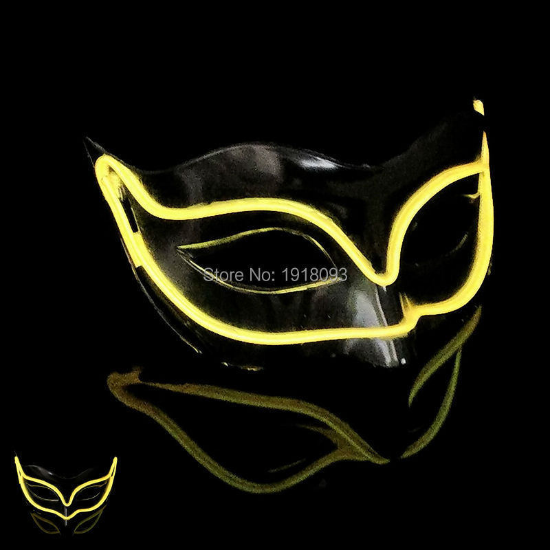 New style Hot sales Color Yellow Fox LED mask Novelty Lighting EL Mask as Party Christmas Halloween holiday Decoration
