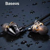 Baseus H10 Doppio dinamico 3.5 MILLIMETRI Wired Auricolare stereo suono dei bassi auricolari con il mic per xiaomi fone de ouvido auriculares MP3