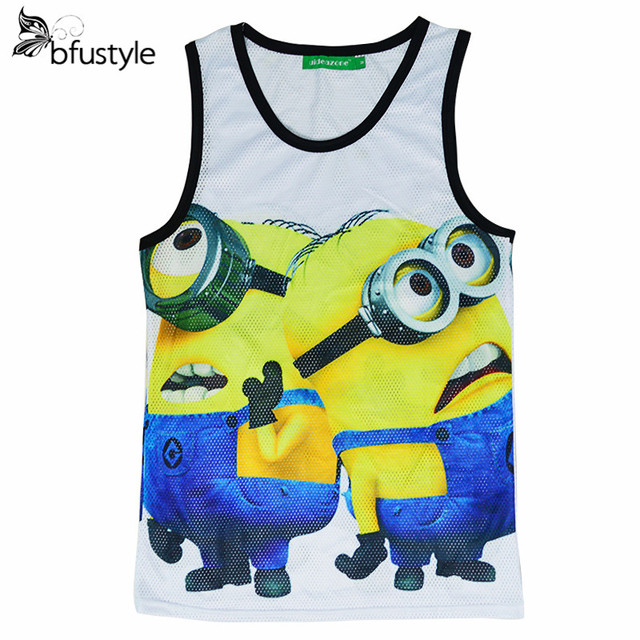 New Summer Tank Top Women 3D Print Despicable Me Minion Men Tops Vest Undershirt Sleeveless