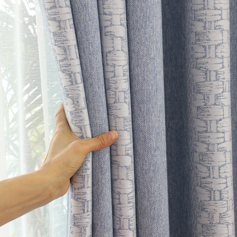 Modern Chenille Jacquard High Shading Window Curtain Blackout Livingroom Curtains For Bedroom Living Room Rideaux Chambre