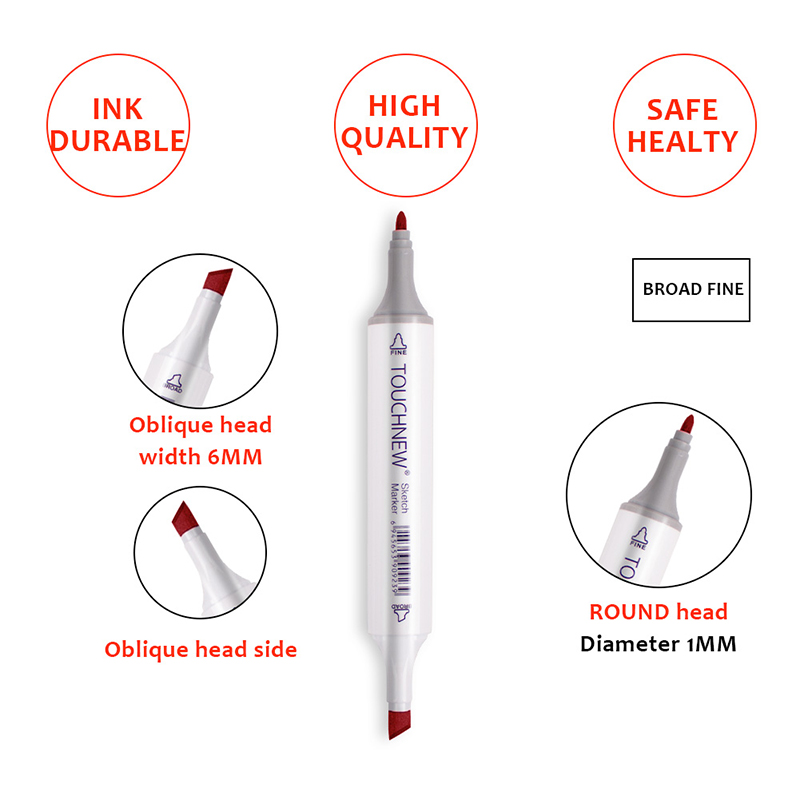 Art Drawing Marker Pen , TOUCHNEW 40 60 80 168 Colors Alcohol Graphic Art Sketch Twin Marker Pens Gift sketchbook for painting 5