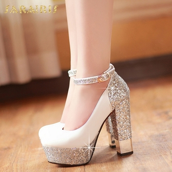 Gold Bling Pumps