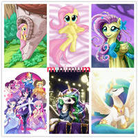 Full Drill Home Decor Animals DIY Diamond Painting Baby Pony Princess Cross Stitch 5D Diamond Embroidery