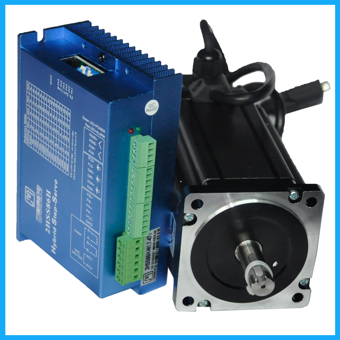 86J18156EC-1000+2HSS86H drive  Closed loop stepping servo motor system 12N.m Nema 34 Hybird closed loop 2-phase stepper motor 100w new leadshine closed loop system a servo drive hbs507 and 3 phase servo motor 573hbm10 1000 with a cable a set cnc part