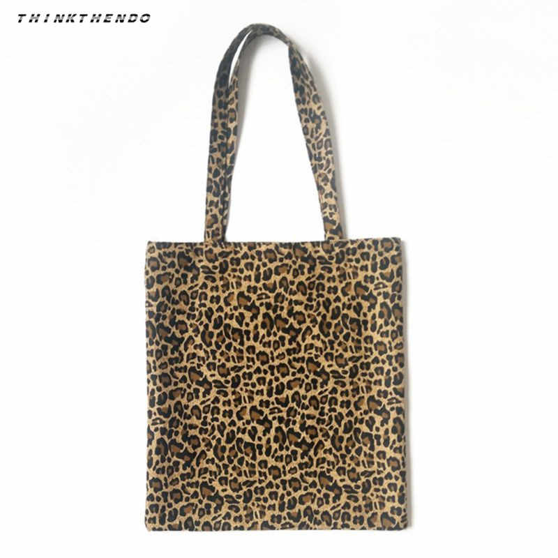 Detail Feedback Questions about THINKTHENDO Fashion Women Canvas Shoulder  Bag Messenger Girls Female Leopard Print Hobo Purse Satchel Shopping Tote  Handbag ... d5099866303a1