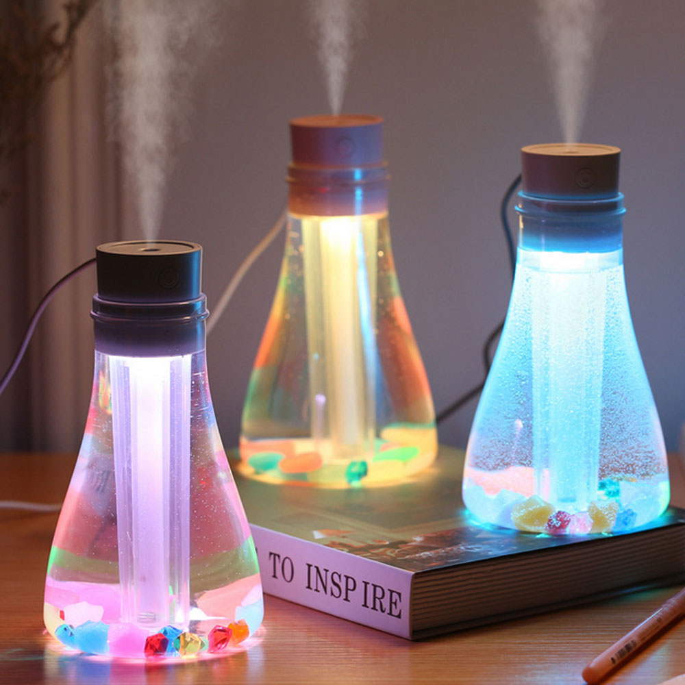 500ml Ultrasonic Air Humidifier Mini Aroma Purifier 7 Color change for Portable Diffuser Mist Maker
