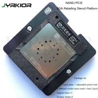 Jyrkior Voor iPhone 6/6 Plus/6 s/6 s Plus/8/8 Plus X NAND/ PCIE Hard Disk Module BGA Reballing Stencil Plant Tin Platform