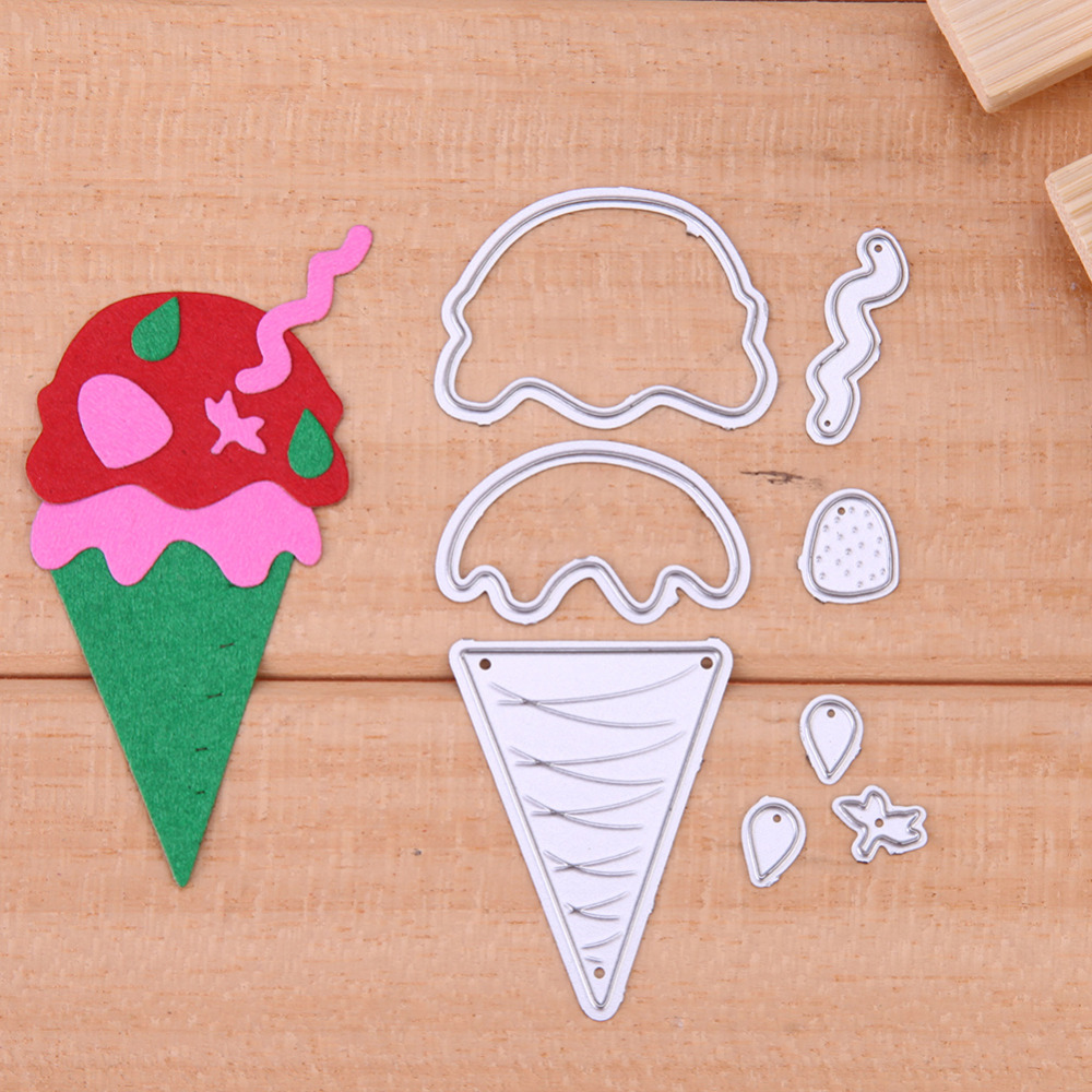 Nuevo helado lindo metal Recortes de papel scrapbooking DIY Relieves ...